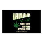 Marijuana Party Rectangle Sticker 50 pk)