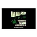 Marijuana Party Rectangle Sticker 10 pk)