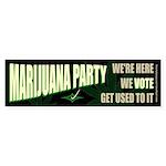 Marijuana Party Bumper Sticker (10 pk)