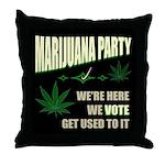 Marijuana Party Throw Pillow