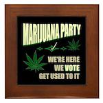 Marijuana Party Framed Tile