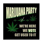 Marijuana Party Tile Coaster