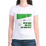 Marijuana Party Jr. Ringer T-Shirt