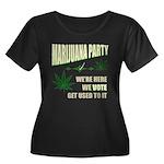 Marijuana Party Women's Plus Size Scoop Neck Dark