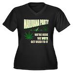 Marijuana Party Women's Plus Size V-Neck Dark T-Sh
