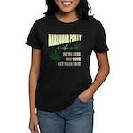 Marijuana Party Women's Dark T-Shirt