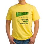 Marijuana Party Yellow T-Shirt