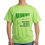 Marijuana Party Green T-Shirt