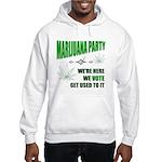 Marijuana Party Hooded Sweatshirt