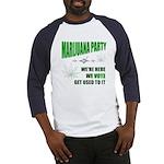 Marijuana Party Baseball Jersey