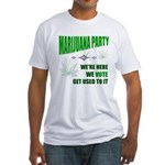 Marijuana Party Fitted T-Shirt