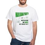 Marijuana Party White T-Shirt