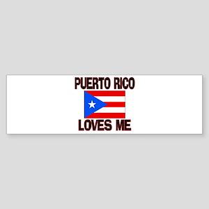 Puerto Rico Loves Me Bumper Sticker
