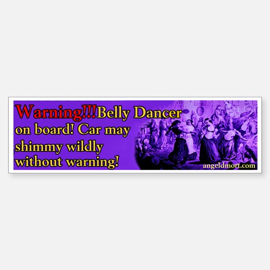 Tribal American Belly Dance Bumper Car Car Sticker