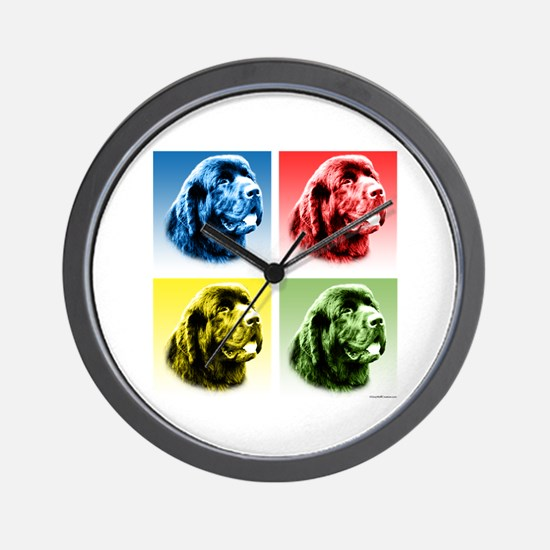 Newf Pop Wall Clock