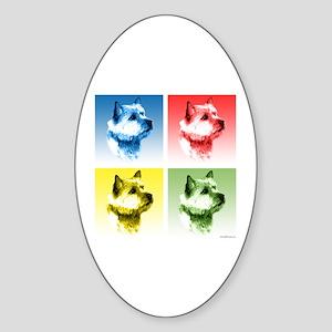 Norwich Pop Oval Sticker
