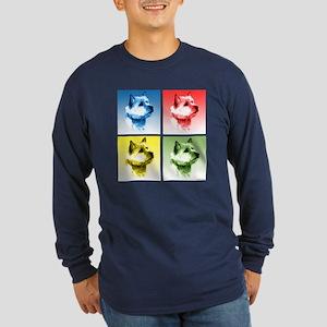 Norwich Pop Long Sleeve Dark T-Shirt