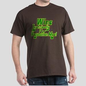 Wine, Technically its Vegetarian Dark T-Shirt