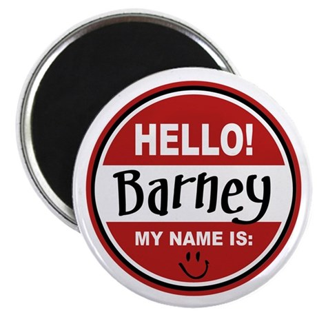 """Hello my name is Barney 2.25"""" Magnet (10 pack)"""