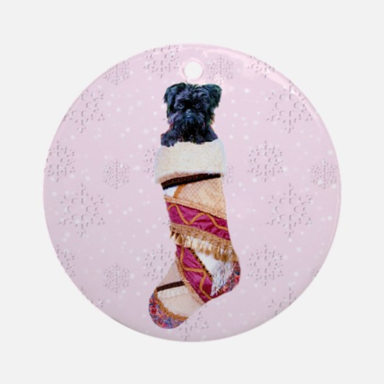 Brussels Griffon Stocking Ornament (Round)