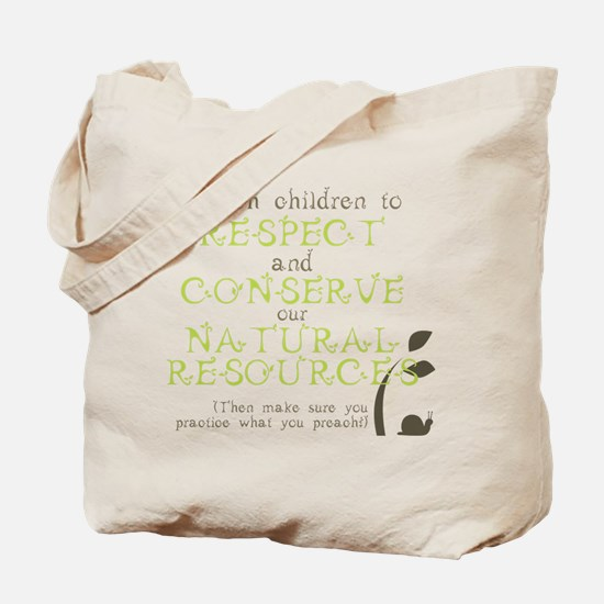 Nature Conservation Tote Bag