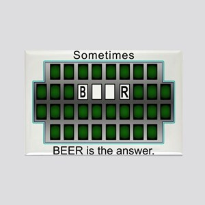 Sometimes Beer is the Answer Rectangle Magnet