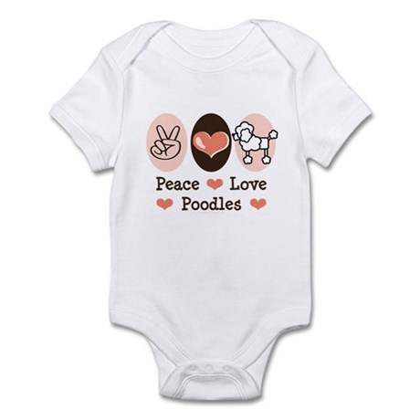 Peace Love Poodle Infant Bodysuit