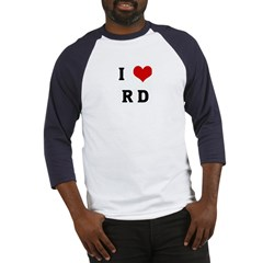 I Love R D Baseball Jersey