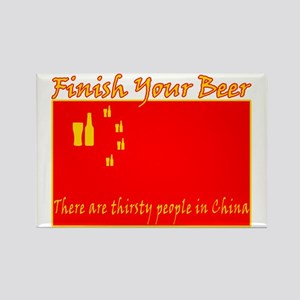 Thirsty People in China Rectangle Magnet