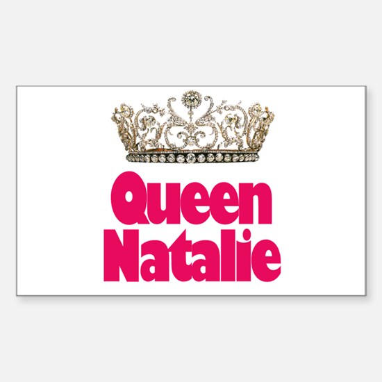 Queen Natalie Rectangle Decal