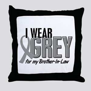 I Wear Grey For My Brother-In-Law 10 Throw Pillow