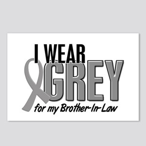 I Wear Grey For My Brother-In-Law 10 Postcards (Pa