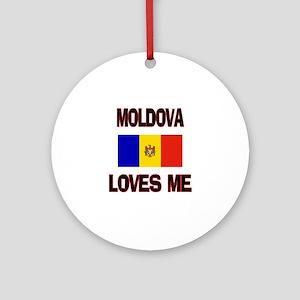 Moldova Loves Me Ornament (Round)
