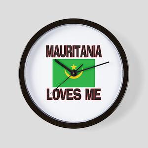 Mauritania Loves Me Wall Clock