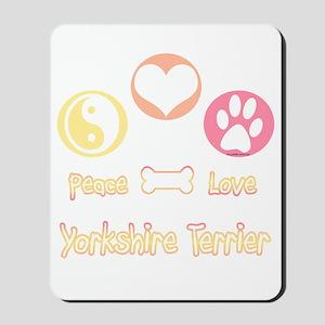 Yorkie Peace Mousepad