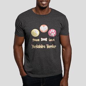 Yorkie Peace Dark T-Shirt