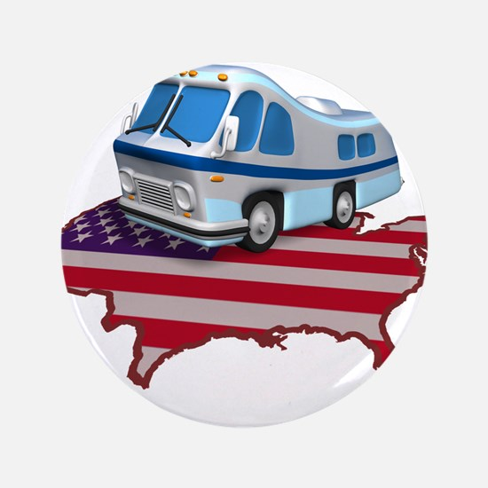 "RV Across America 3.5"" Button"