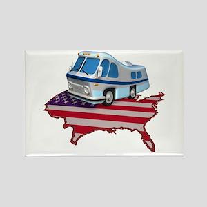 RV Across America Rectangle Magnet