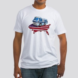 RV Across America Fitted T-Shirt