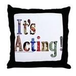 Graduating Actor Throw Pillow