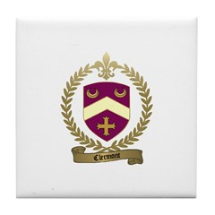 CLERMONT Family Crest Tile Coaster