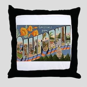California CA Throw Pillow