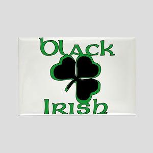 Black Shamrock Black Irish Rectangle Magnet