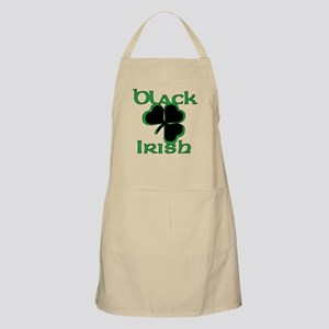 Black Shamrock Black Irish Apron