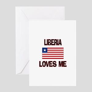 Liberia Loves Me Greeting Card