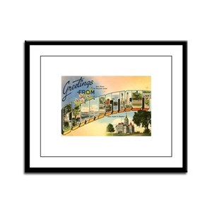 Connecticut CT Framed Panel Print