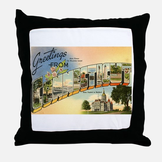 Connecticut CT Throw Pillow
