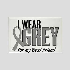 I Wear Grey For My Best Friend 10 Rectangle Magnet