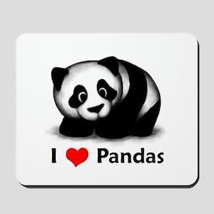 I Love Pandas Mousepad