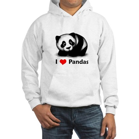 I Love Pandas Hooded Sweatshirt
